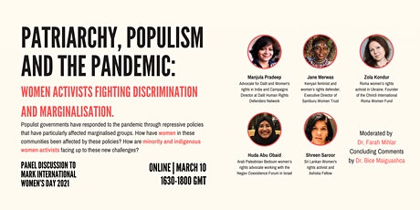Patriarchy, populism and pandemic: women activists fighting discrimination tickets