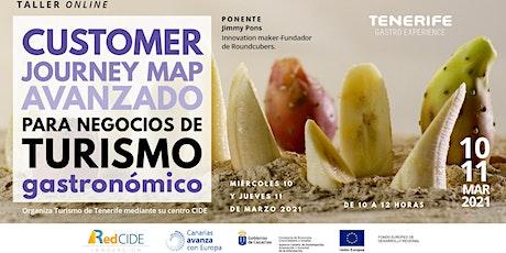 Customer Journey Map avanzado para negocios de turismo gastronómico entradas