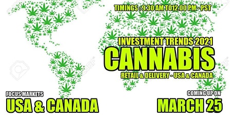 Cannabis Investor & Startups Meet- Retail & Delivery - USA tickets
