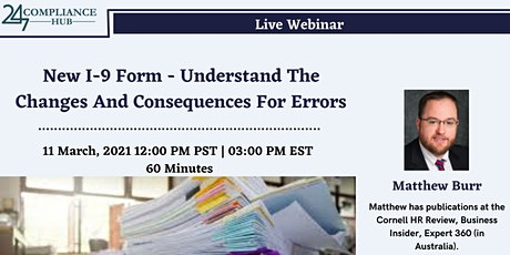 New I-9 Form - Understand The Changes And Consequences For Errors tickets