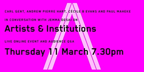 Thinking Time Talks on Artists & Institutions tickets