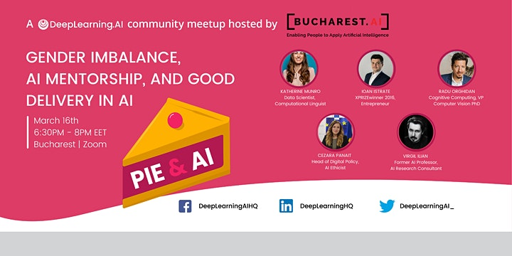 Pie & AI: Bucharest - Gender Imbalance, AI Mentorship & Good Delivery in AI image