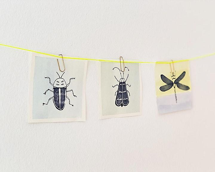 Online-Workshop | Druckwerkstatt: Das große Krabbeln | Für 6-bis 12-Jährige: Bild