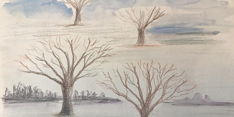 Learn to paint trees with watercolours. painting and poetry Online Workshop tickets