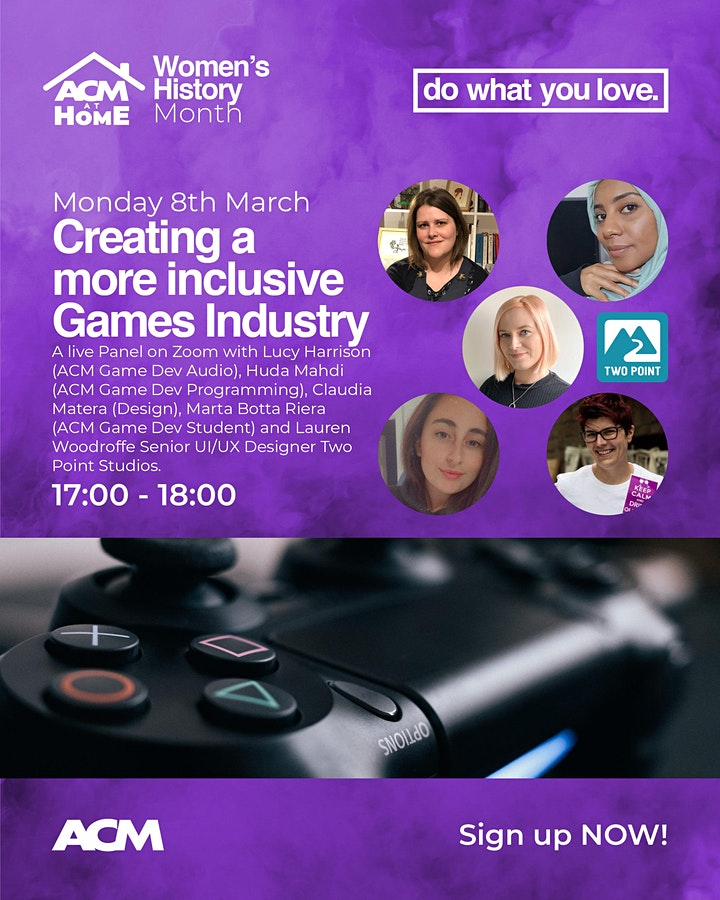 """Women's History Month: """"Creating a More Inclusive Games Industry"""" Panel image"""