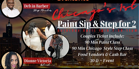 Paint Sip & Step for 2 tickets