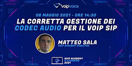 La gestione dei codec audio per il VoIP SIP biglietti