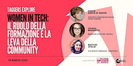 Women in Tech: il ruolo della formazione e la leva della community biglietti