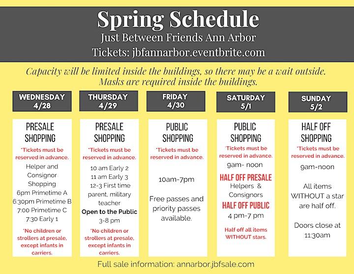 JBF Ann Arbor FREE General Admission Thursday - Sunday image