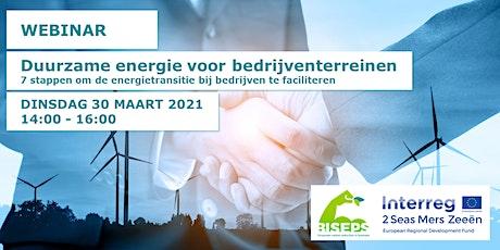 Webinar - Duurzame energie voor bedrijventerreinen tickets