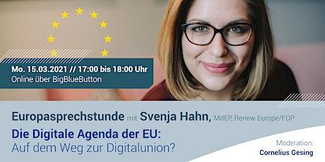 Digitale Europasprechstunde mit Svenja Hahn tickets