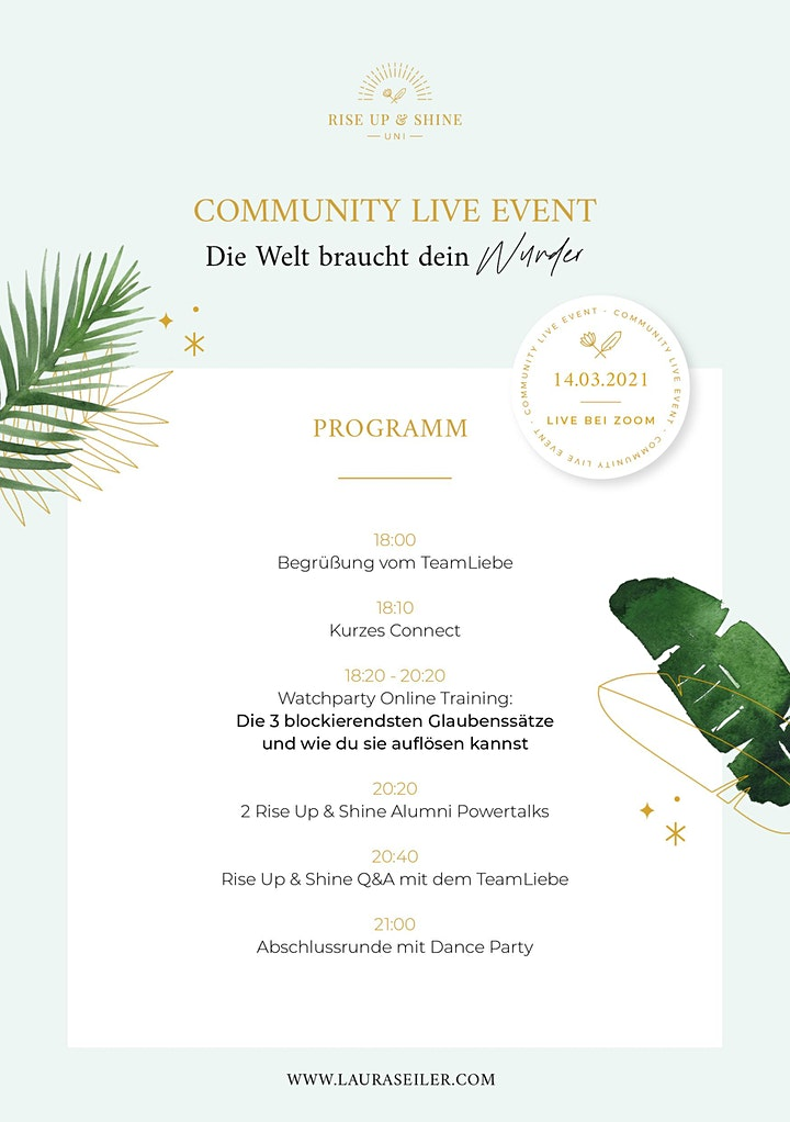 TeamLiebe Community Live Event by Laura Malina Seiler: Bild