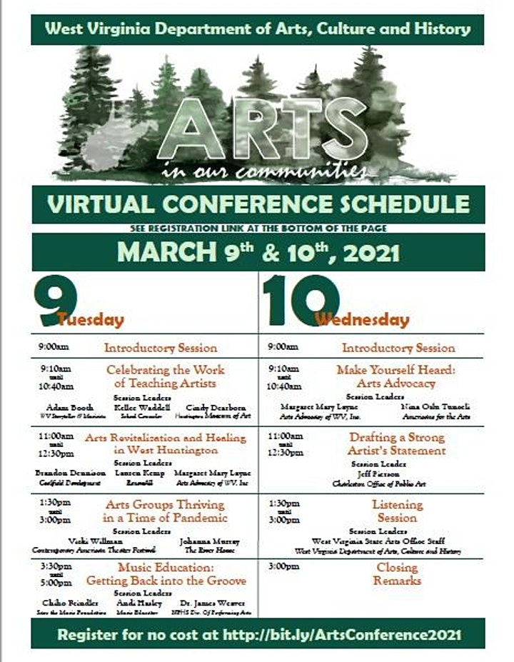 2021 West Virginia Arts in Our Communities Conference image