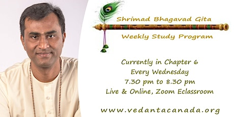 Bhagavad Gita Weekly Study, Wednesdays 7.30 pm, Live & Online tickets