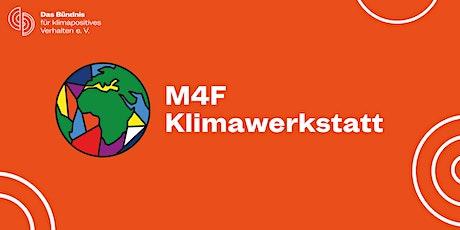 M4F Klimawerkstatt: Roundtable Klimakompensation Tickets