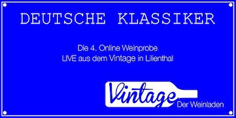 4. Online Weinprobe LIVE aus dem VINTAGE in Lilienthal /// DEUTSCHE WEINE Tickets