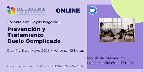 Prevención y tratamiento Duelo Complicado - Alba Payàs - 12 horas entradas