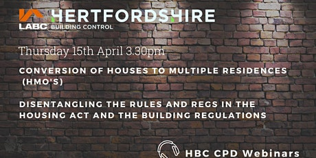HBC Webinar Conversion of Houses to Multiple Residences tickets