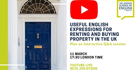 Useful English expressions for renting and buying property in the UK tickets
