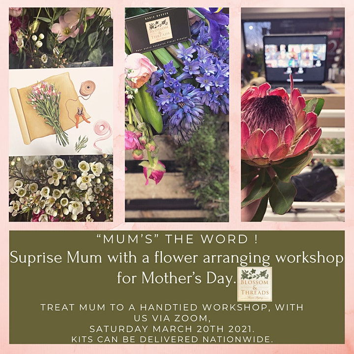 Flower Arranging Workshop online, Mothers Day Special image