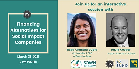 Financing Alternatives for Social Impact Companies tickets