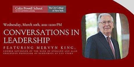 """Conversations in Leadership""- featuring Mervyn King tickets"