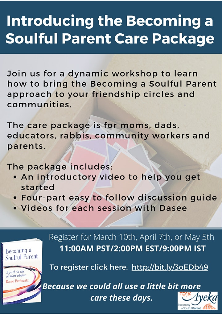 Becoming a Soulful Parent Care Package Workshop image
