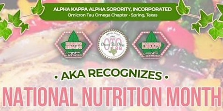 AKA Omicron Tau Omega Chapter - 2021 National Nutrition Month Cooking Demo tickets