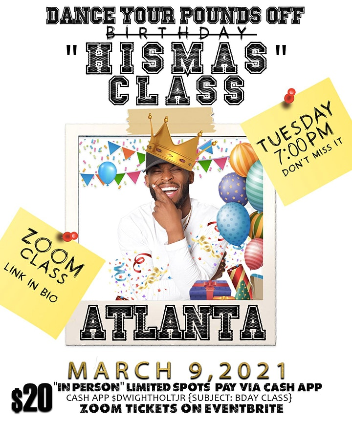 """Dance Your Pounds Off  Birthday """"HisMas"""" Class ZOOM! image"""
