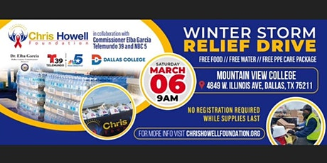 Chris Howell Foundation Winter Storm Relief Drive- Dallas tickets