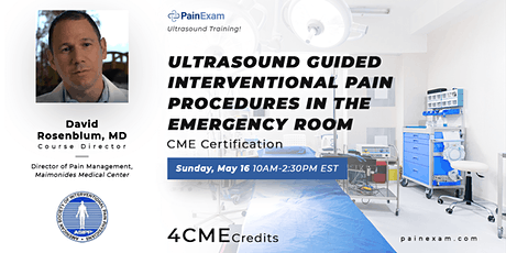 Ultrasound  Guided  Interventional Pain Procedures  in the Emergency Room tickets