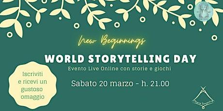 WORLD STORYTELLING DAY 2021 - Evento live online con storie e giochi biglietti