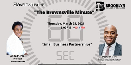The Brownsville Minute - Small Business Recovery and Partnerships tickets