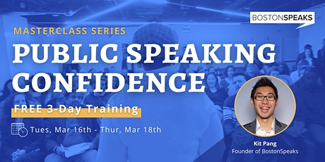 Public Speaking Confidence: 3-Day Training Series tickets