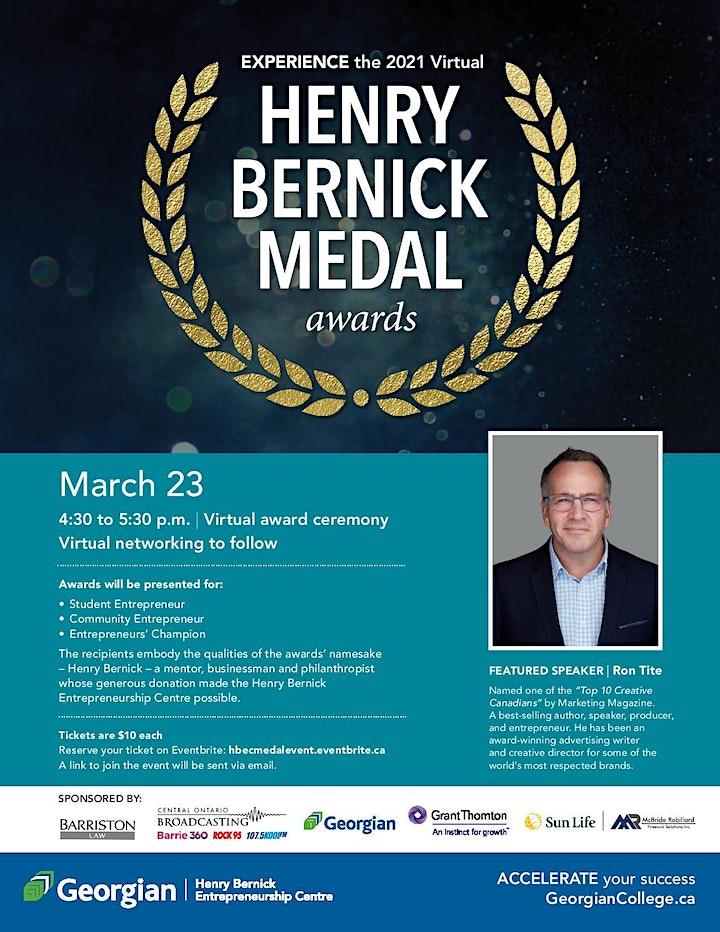 Henry Bernick Medal Awards, guest speaker Ron Tite image