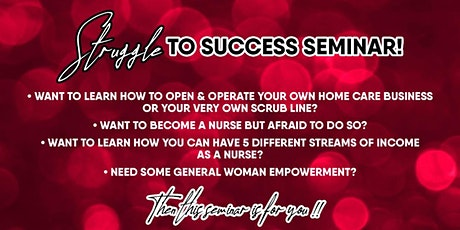 Struggle to Success Seminar tickets