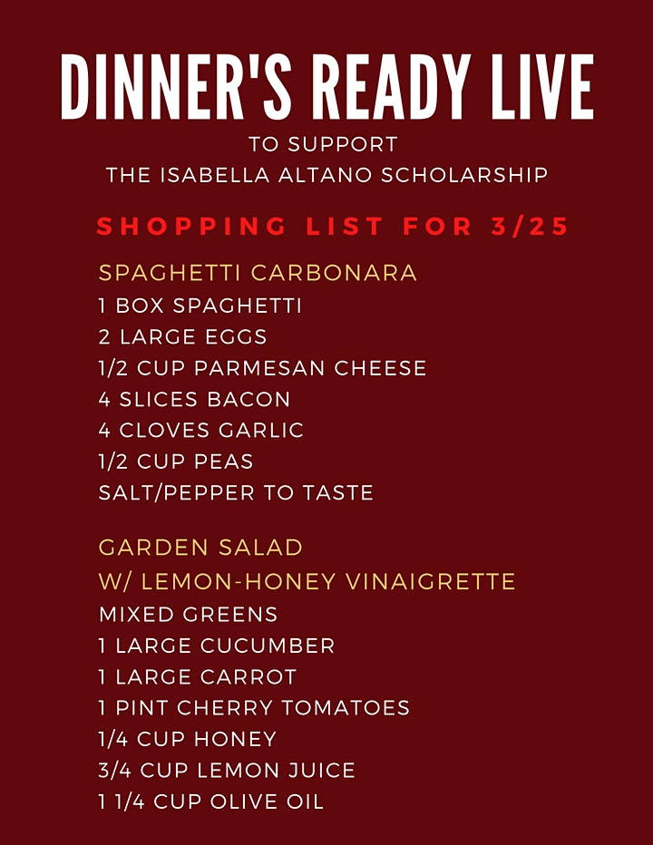 DINNER'S READY LIVE: COOKING AND COMEDY FOR A CAUSE image