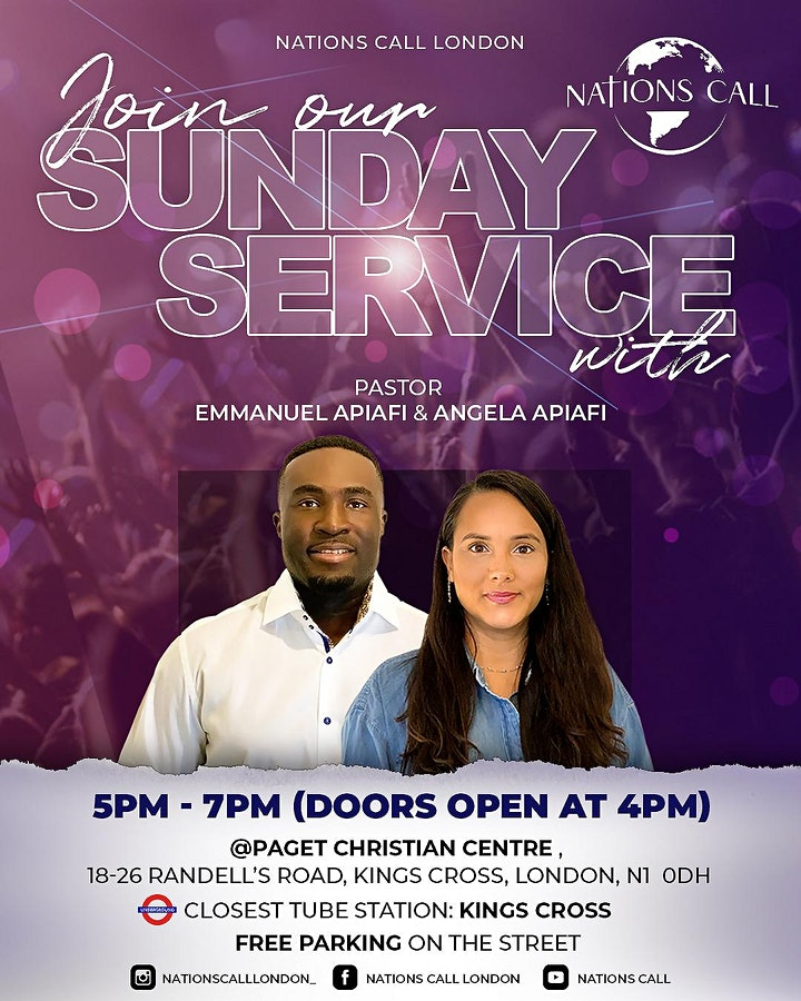 Nations Call London In-Person Sunday Service image