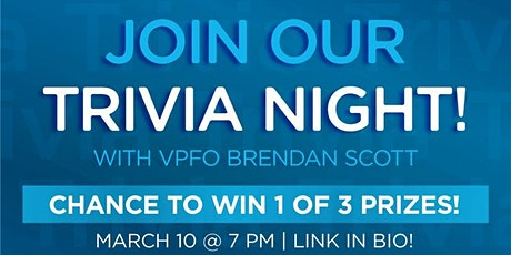 Trivia Night & Prizes with VPFO Brendan Scott! tickets