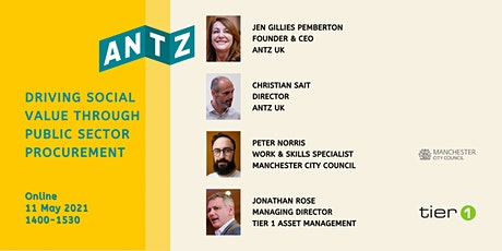 ANTZ Driving Social Value Through Public Sector Procurement 11 May 2021 tickets