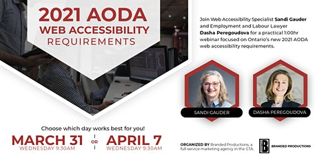 Ontario's 2021 AODA Web Accessibility Requirements tickets