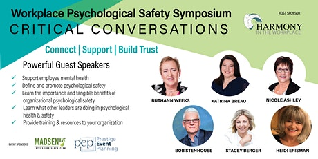 Workplace Psychological Safety Symposium:  Critical Conversations tickets