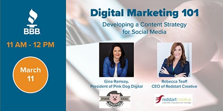 Digital Marketing 101 - Developing a Content Strategy for Social Media tickets