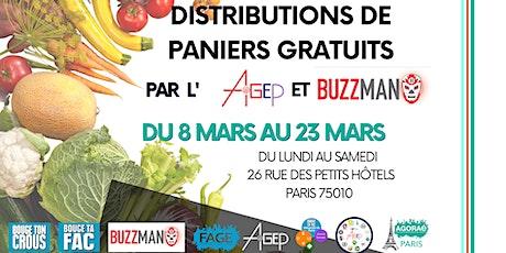 [Ventre plein] Distributions de paniers GRATUITS par Buzzman et l'AGEP billets