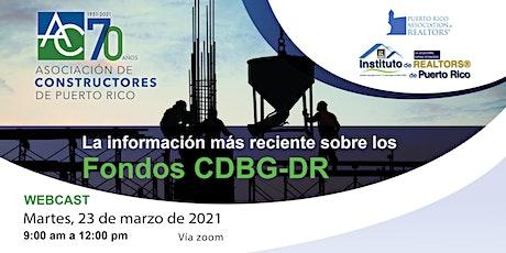 La información más reciente sobre los Fondos CDBG-DR entradas