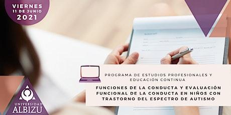 Funciones de la Conducta y Evaluación Funcional De la Conducta en niños TEA entradas