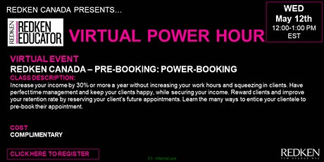 REDKEN CANADA - PRE-BOOKING: POWER-BOOKING tickets