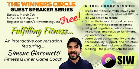 """""""Fulfilling Fitness"""" (Winners Circle Guest Speaker Series) tickets"""