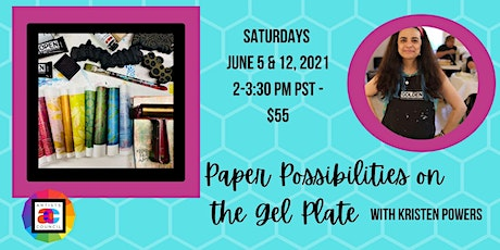 Paper Possibilities on the Gel Plate tickets