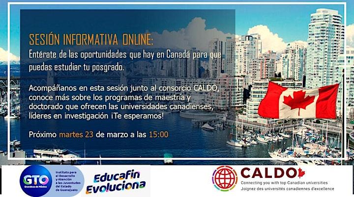 Imagen de Sesión informativa online - Posgrados en Canadá con CALDO